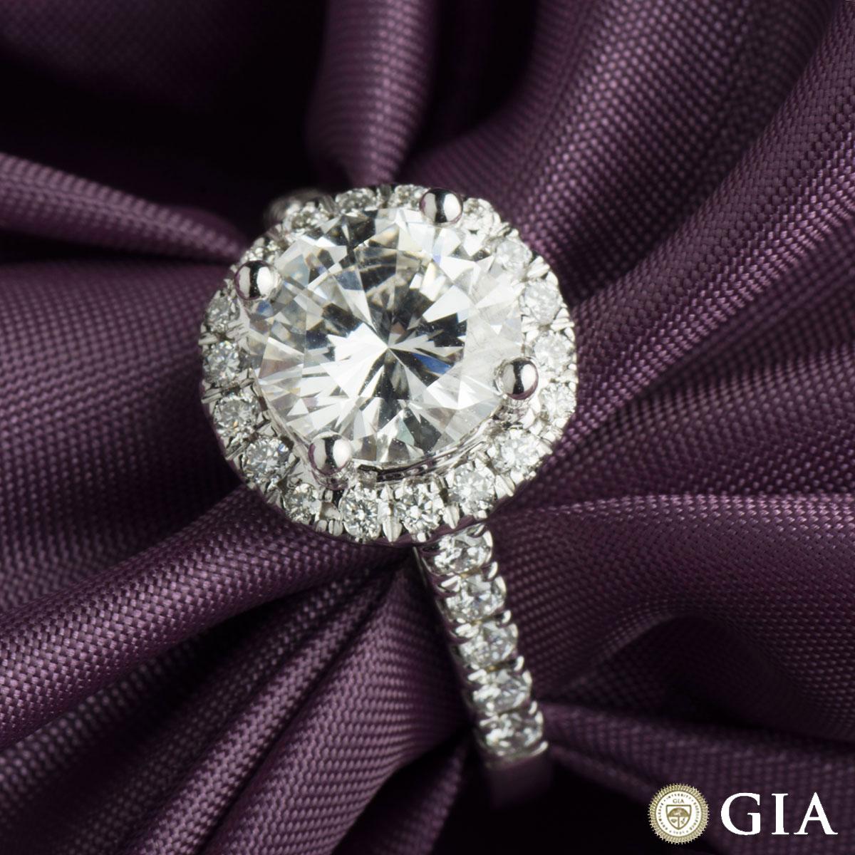 White Gold Round Diamond Ring 2.00ct G/VVS2